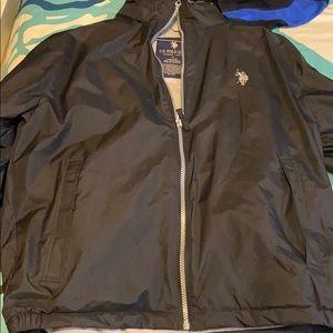 US polo assn. black jacket. Size Large